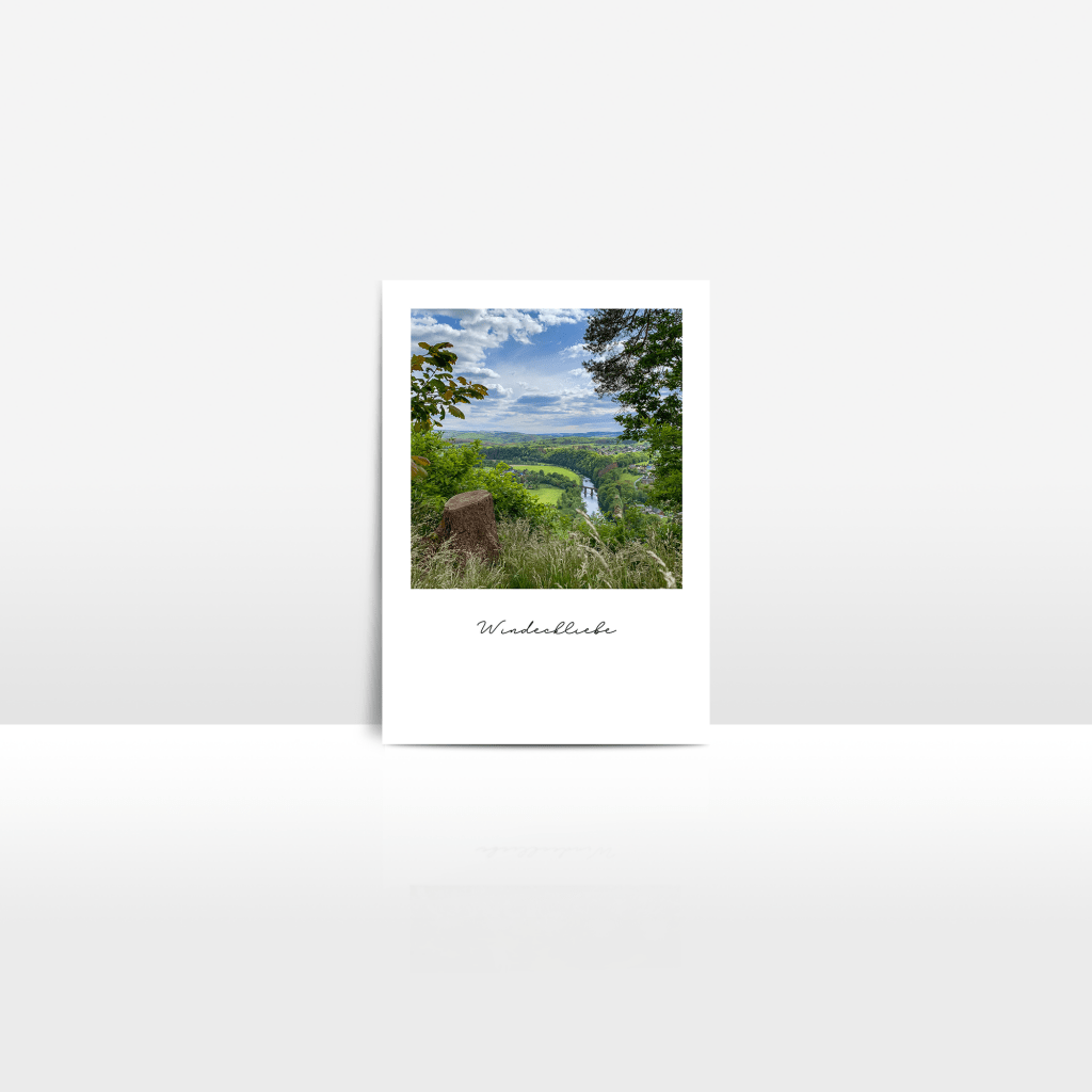 Postkarte Siegtal Alter Stuhl