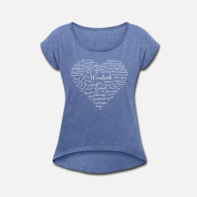 Damenshirt Windeck Herz blau
