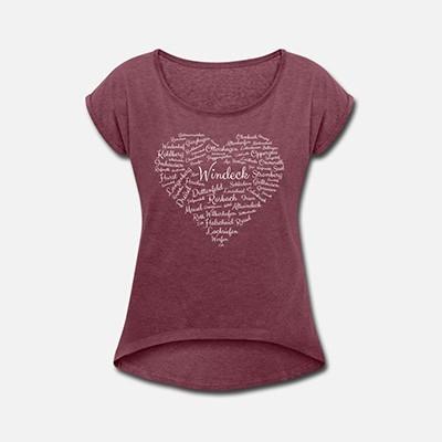 Damenshirt Windeck Herz rot